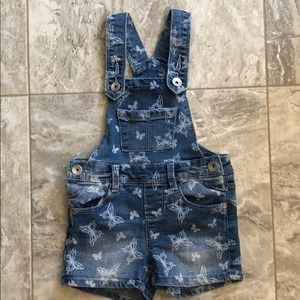 Squeeze Butterfly Jean Overalls (Size 4)